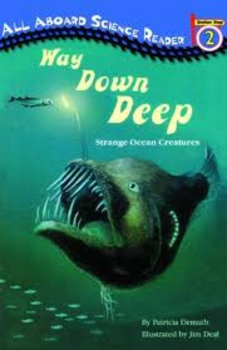 Way Down Deep: Strange Ocean Creatures (All Aboard Reading Step 2) by Patricia Demuth -Image is from http://cadetreadingproject.blogspot.com/2011/05/way-down-dep-strange-ocean-creatures.html