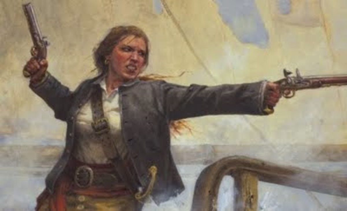 Illustration of Grace O'Malley, Irish Pirate and Queen.
