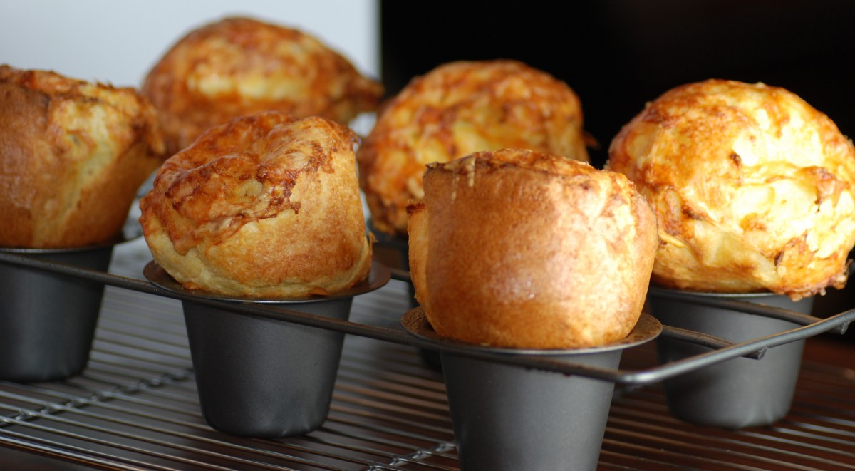 Popovers in a real popover pan (which is not needed to bake lovely ones)