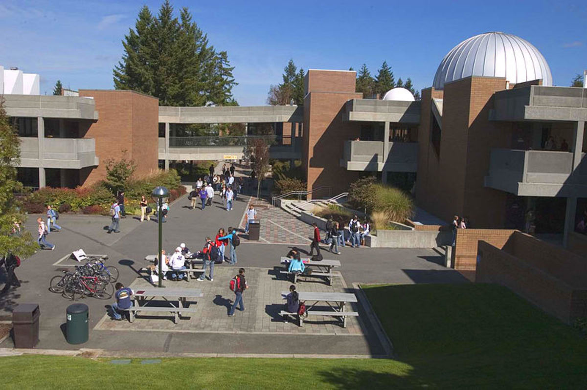 The Bellevue College campus - the largest community college in the state of Washington..