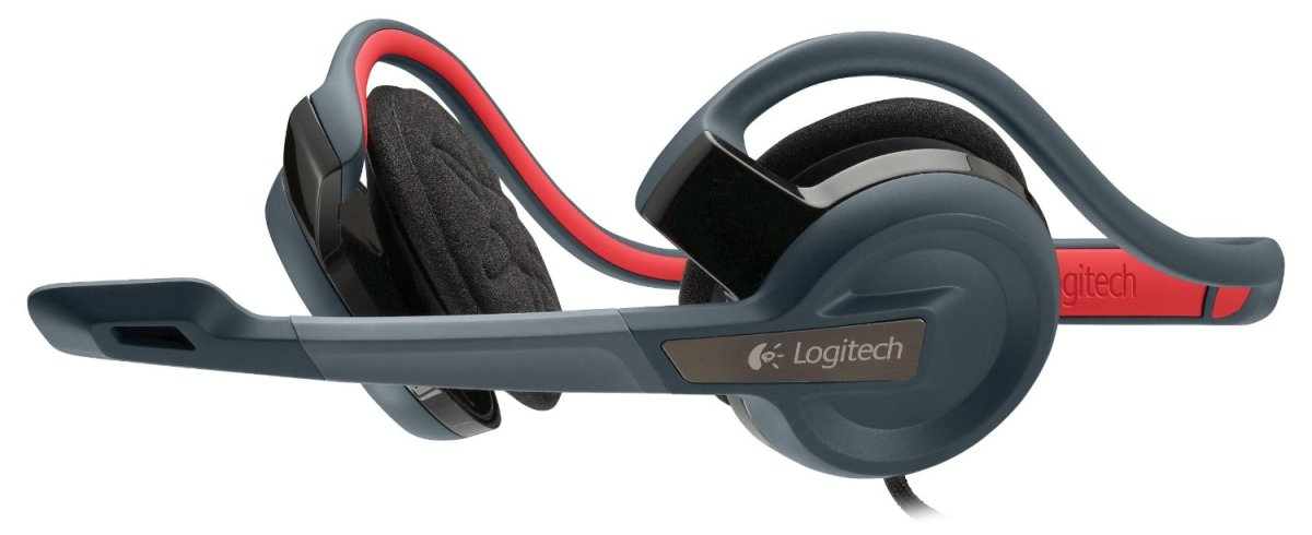 A pair of neckphones where the band rests on the back of the neck and not on the scalp.