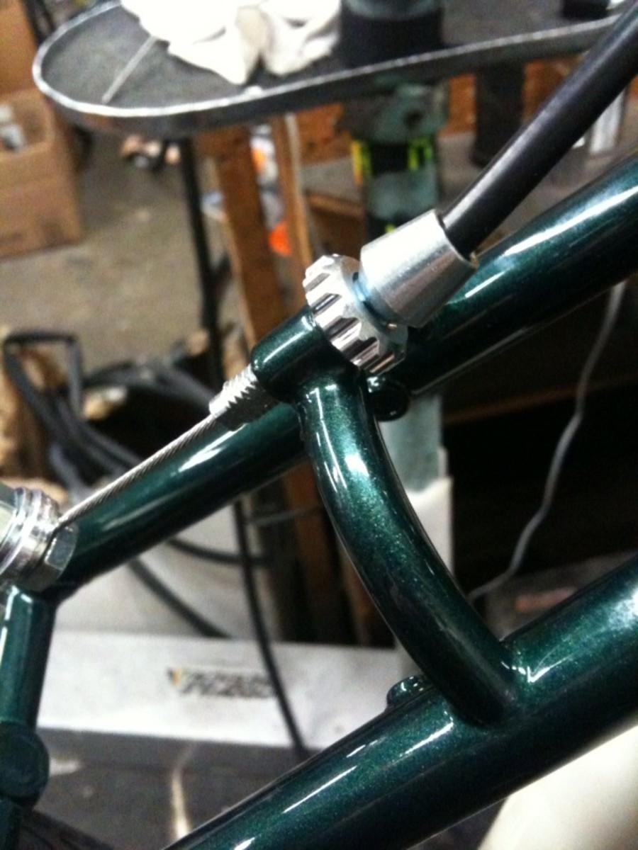 A brake barrel adjustor.