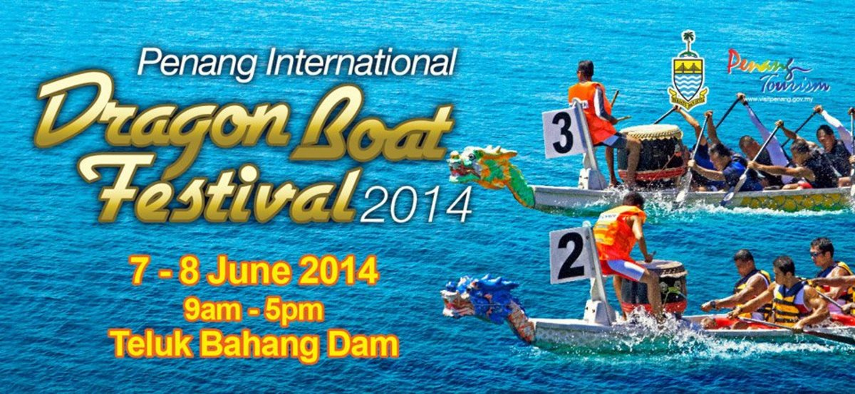 Poster for the Penang International Boat Race 2014