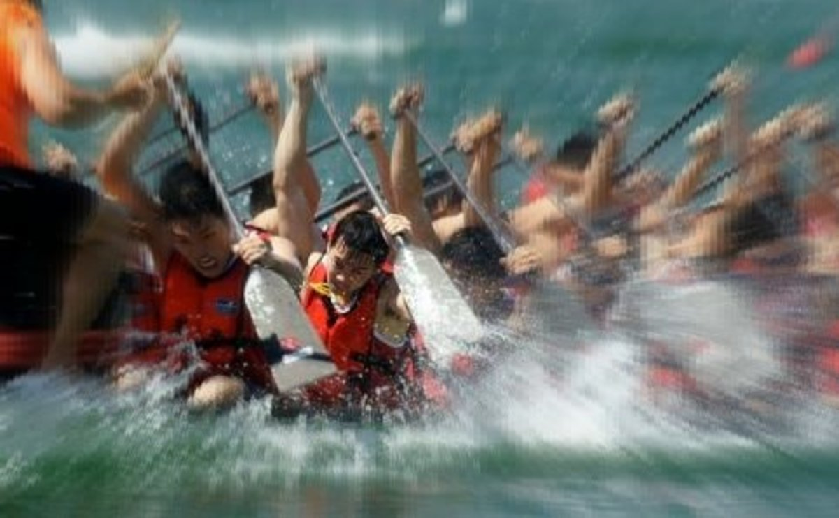 Dragon boat race in Penang