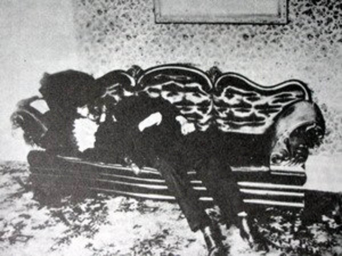 Body of Andrew Borden, Lizzie Borden's father.