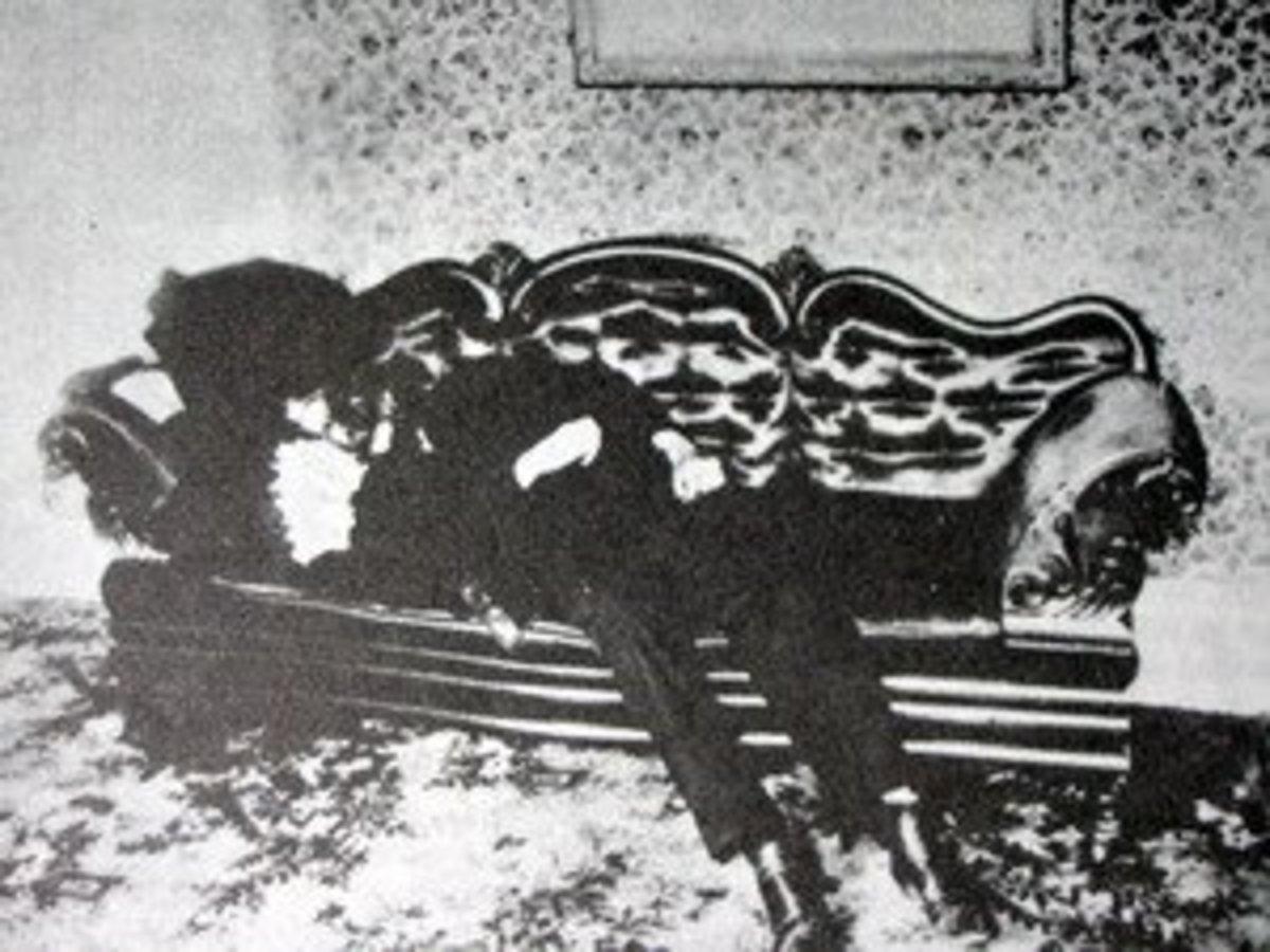 Body of Andrew Borden, Lizzie Borden's father.