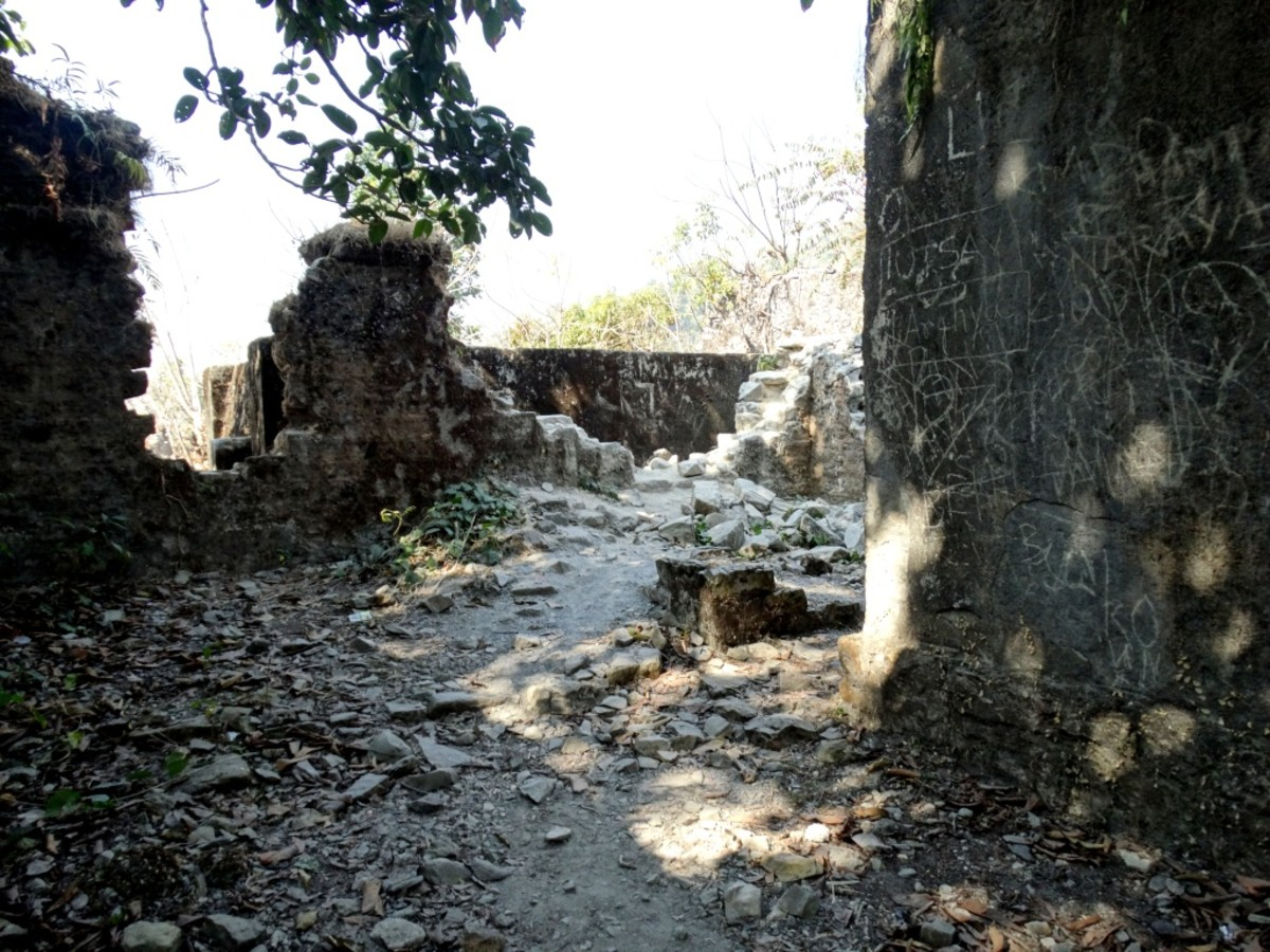 The ruins at Buxa