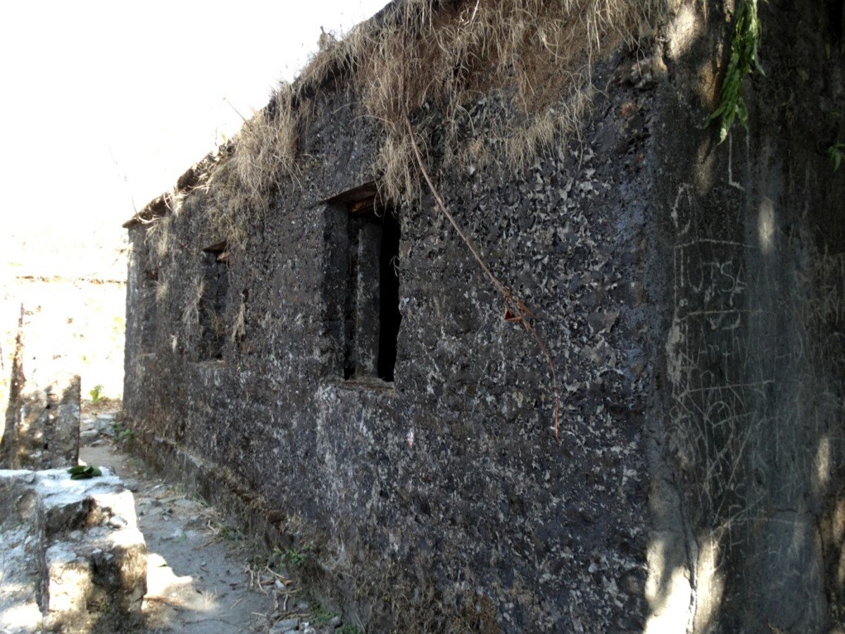 Portion of a building at Buxa Fort 1