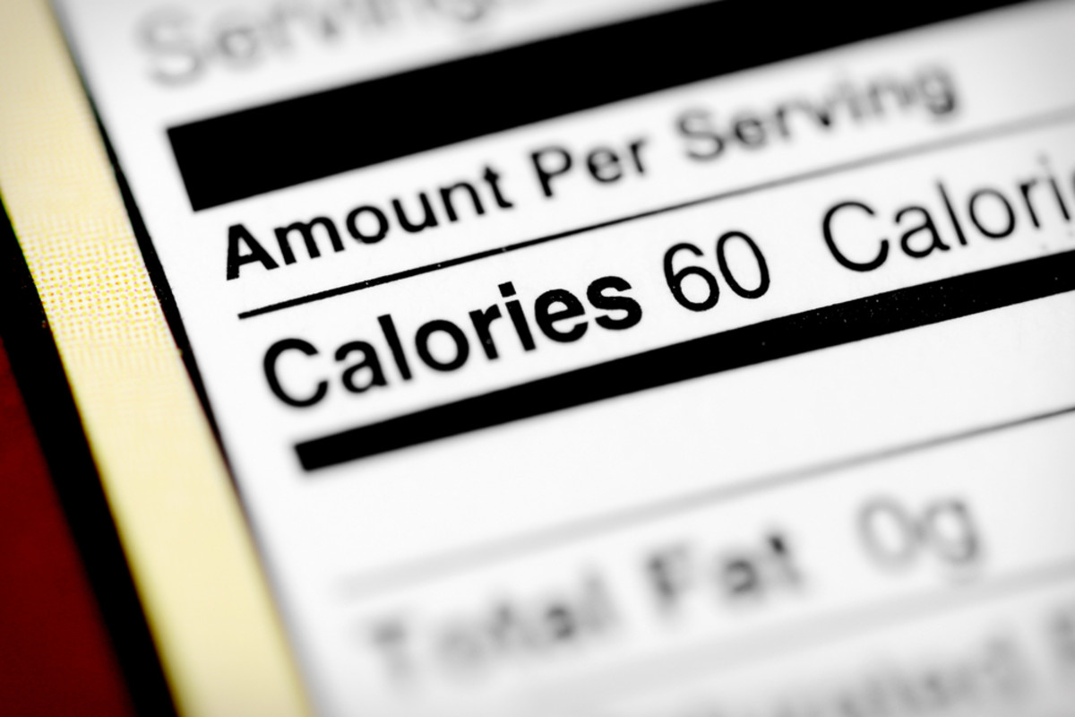 Keep track of the calories you intake every day