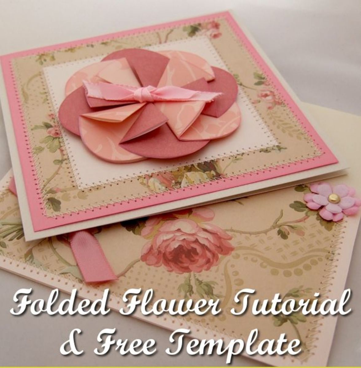 Easy Folded Flower Tutorial and Free Template