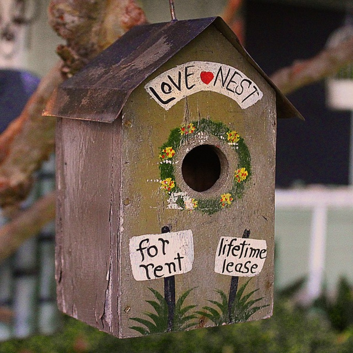 Make your own sweet birdhouses to hang up in the garden.