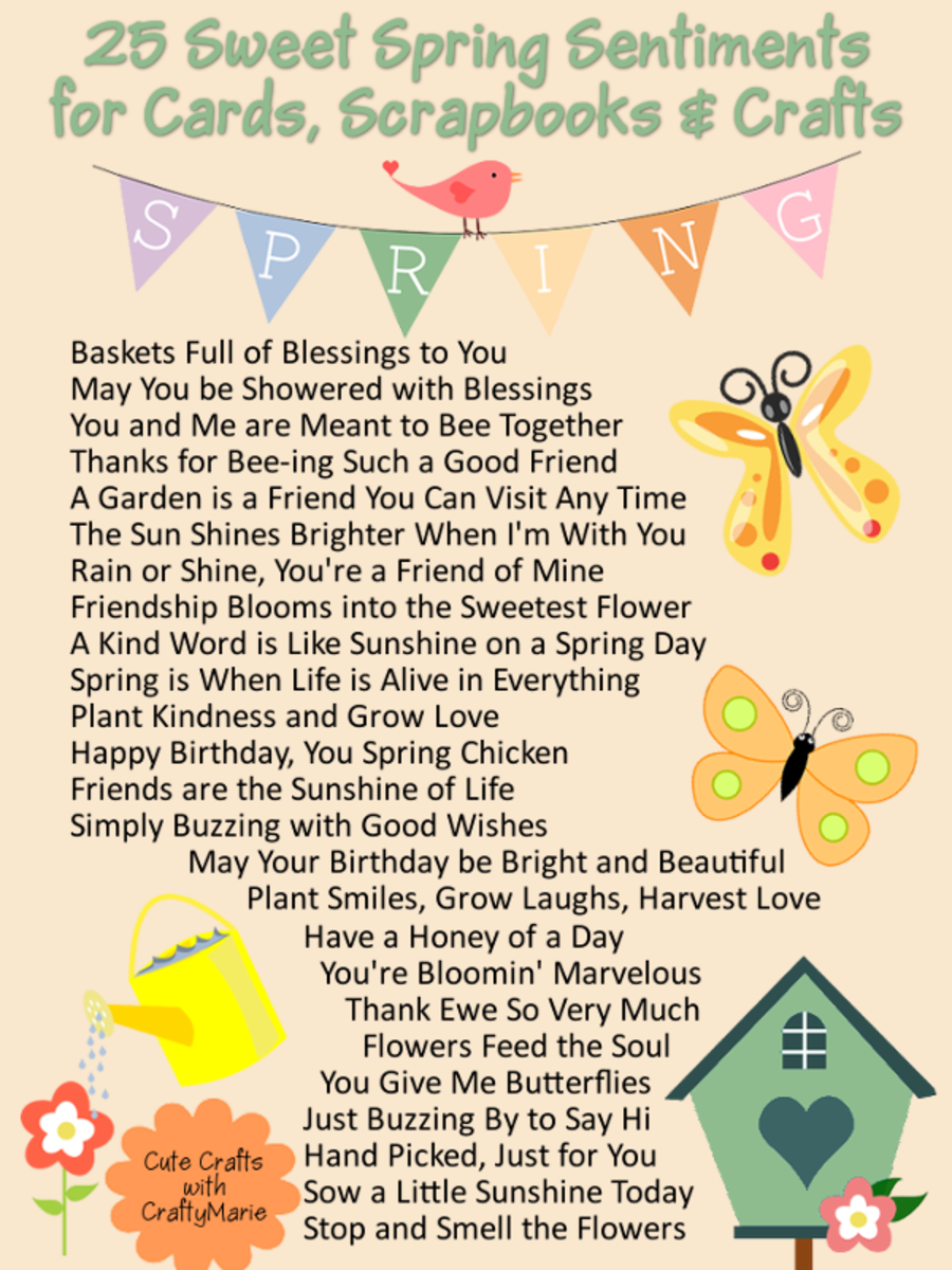 25 Short and Sweet Spring Themed Quotes for Crafts