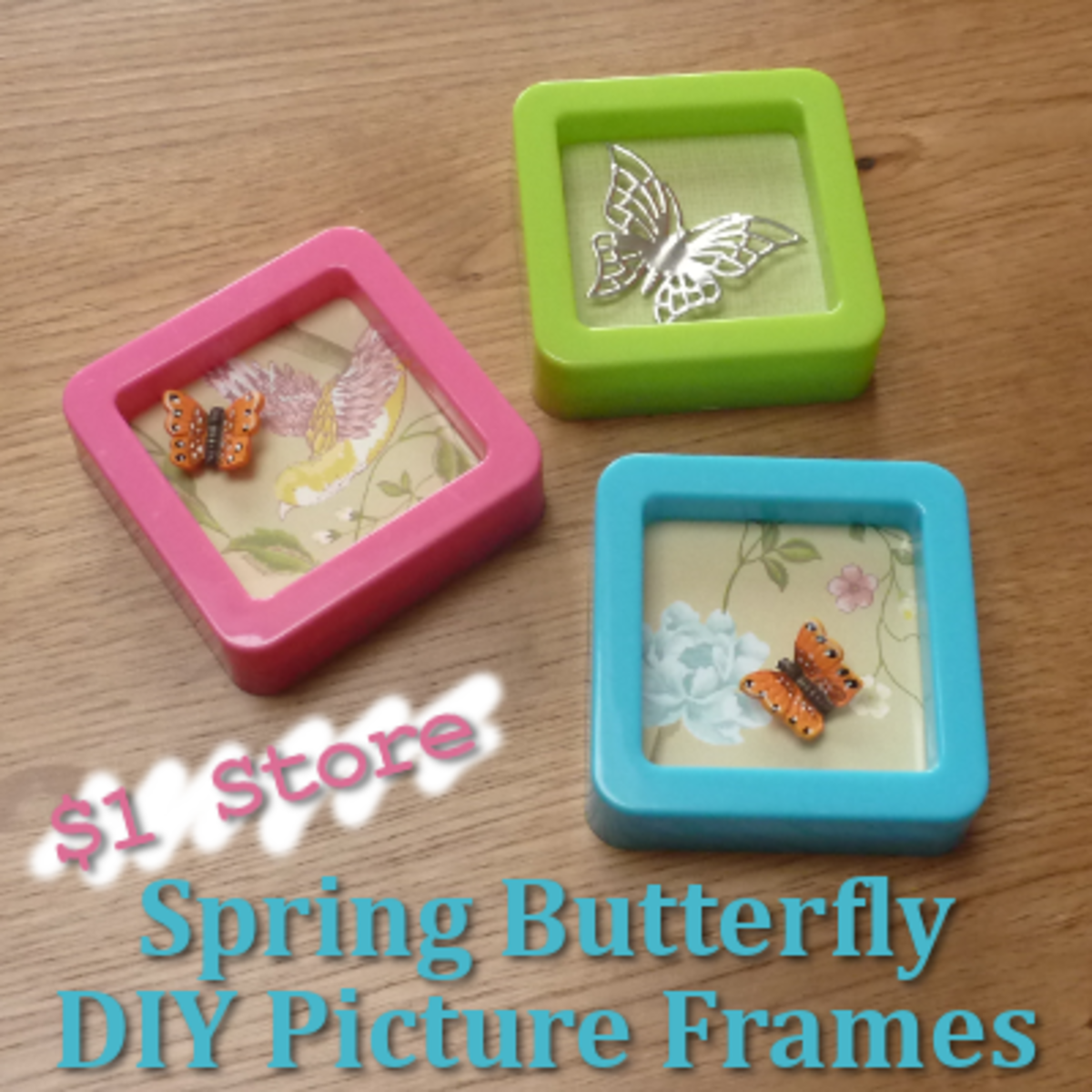 Bright and Fun $1 Butterfly Picture Frames