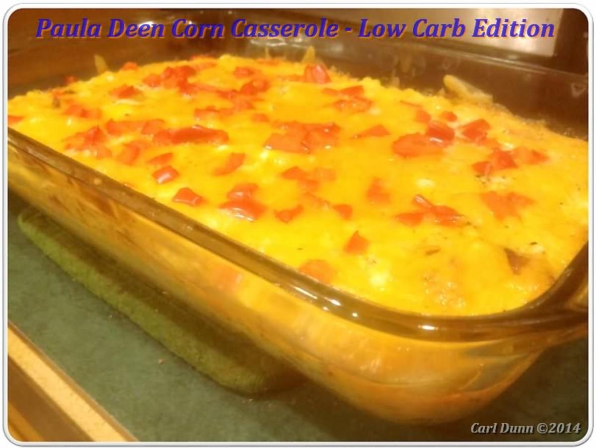Paula Deen Corn Casserole Low Carb Edition