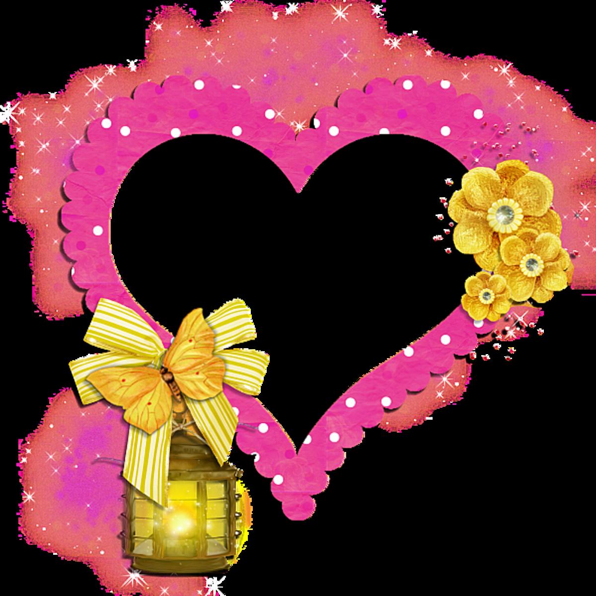 Pink Heart photo frame