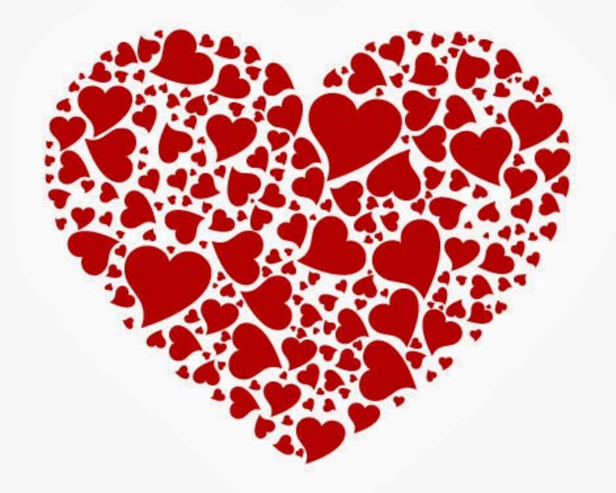 Red Heart made of hearts