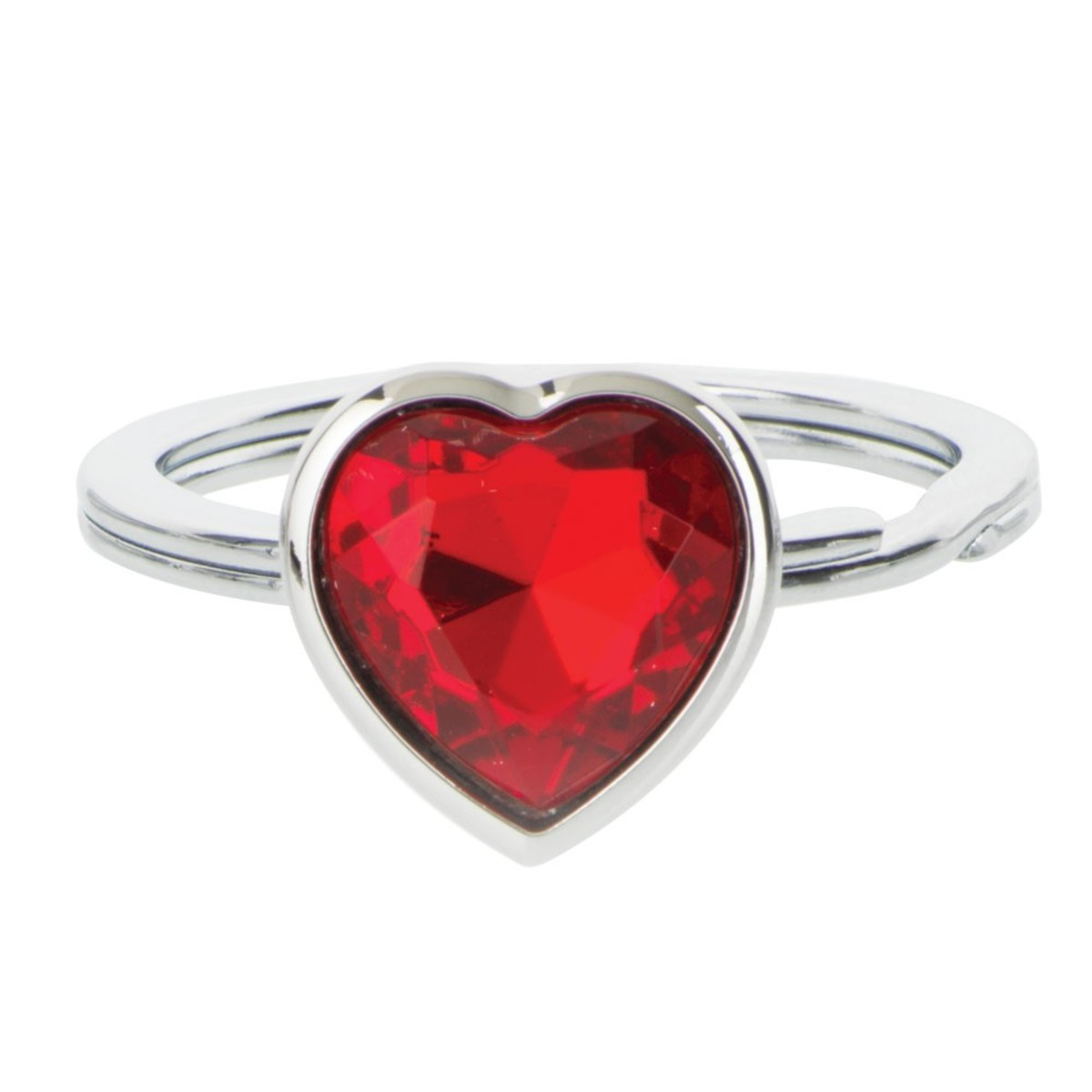 Red heart shaped finger ring pic