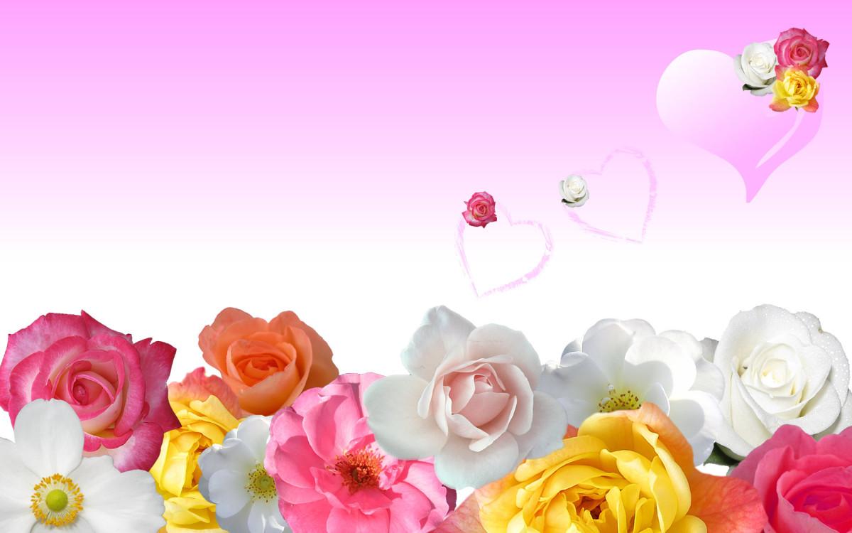 Romantic floral heart picture