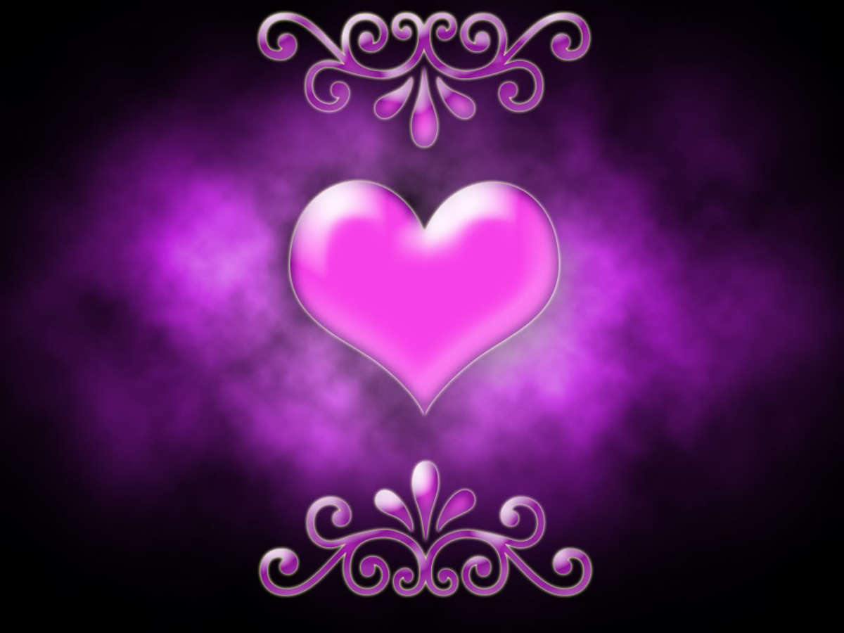 Unique Purple and pink Heart image for your background