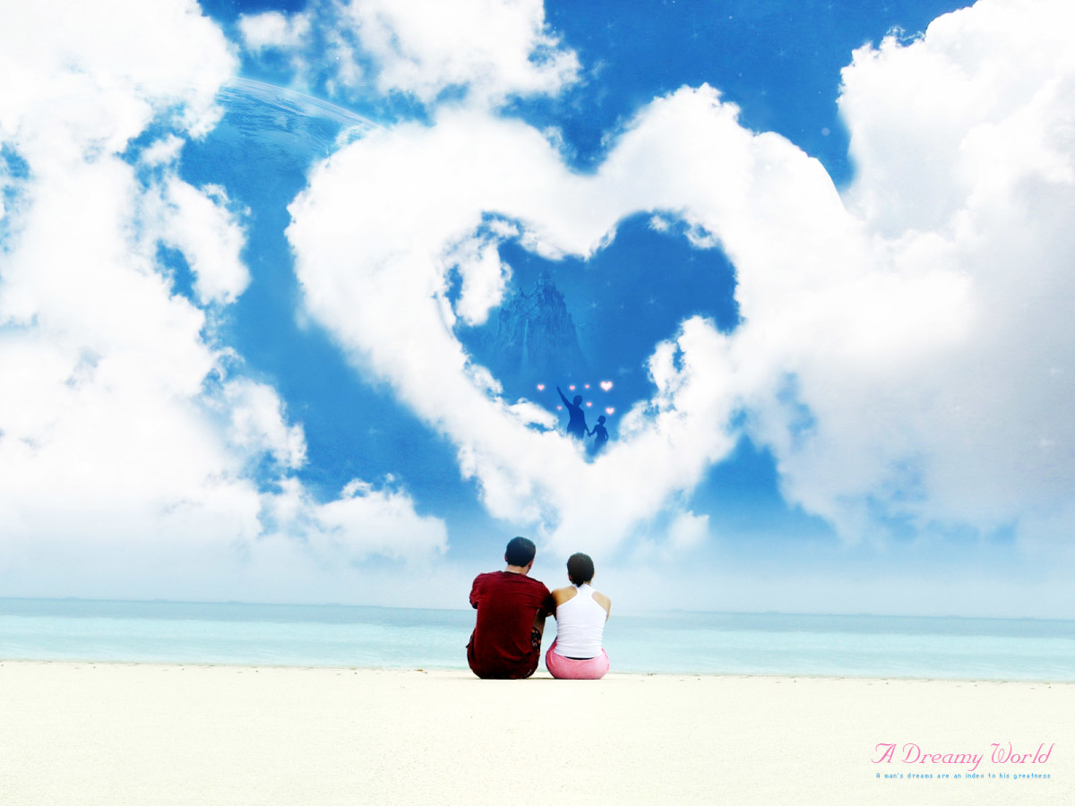Romantic cloud heart image
