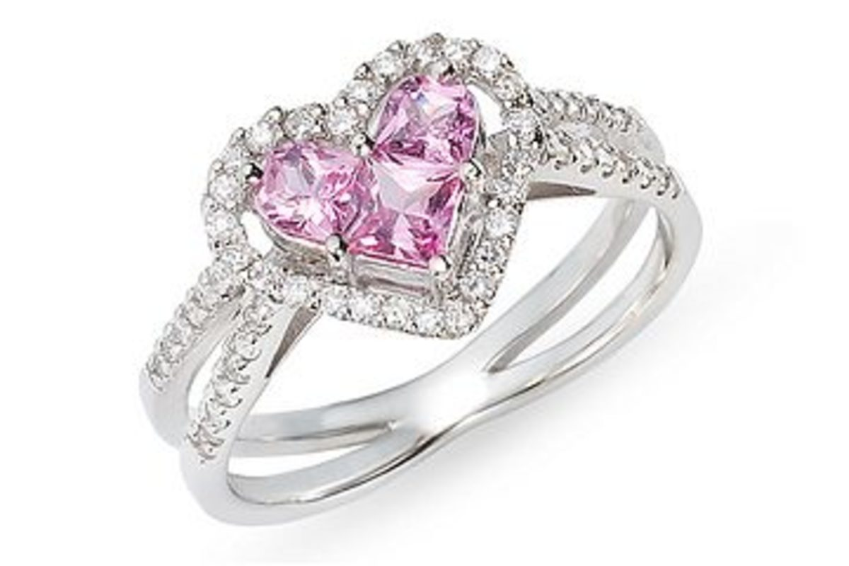 pink stone finger ring symbolizing love
