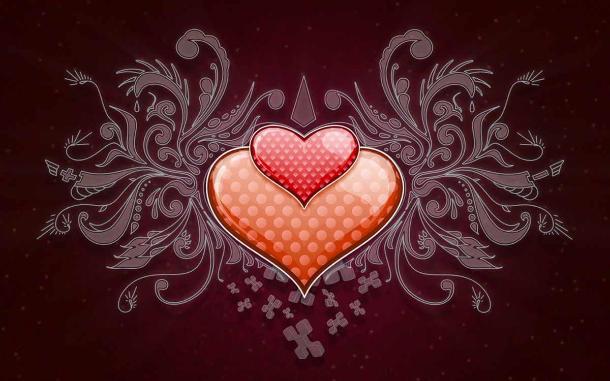 heart on top of another heart background image