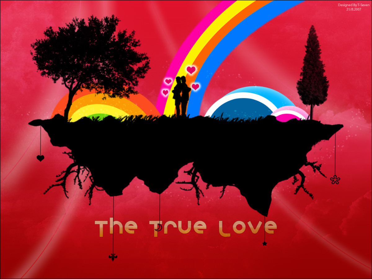 lover and rainbow image