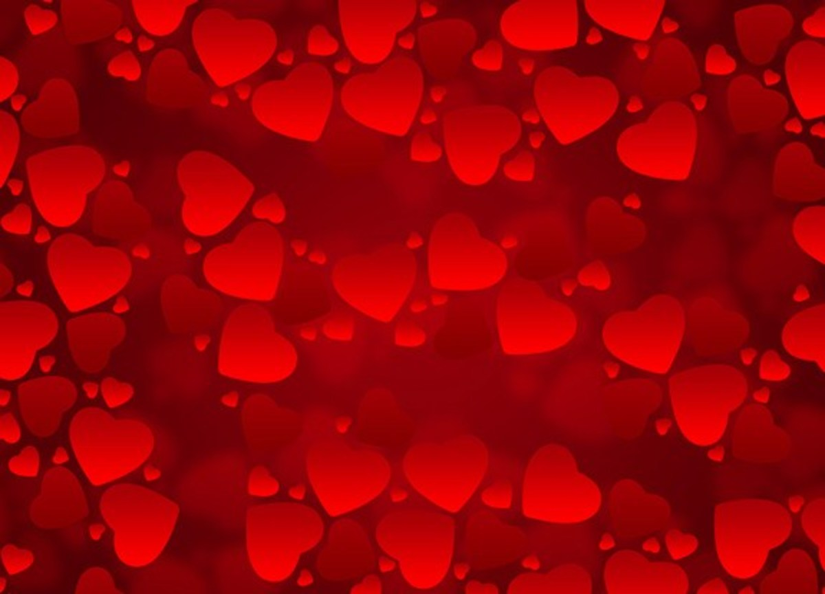 Red Heart background