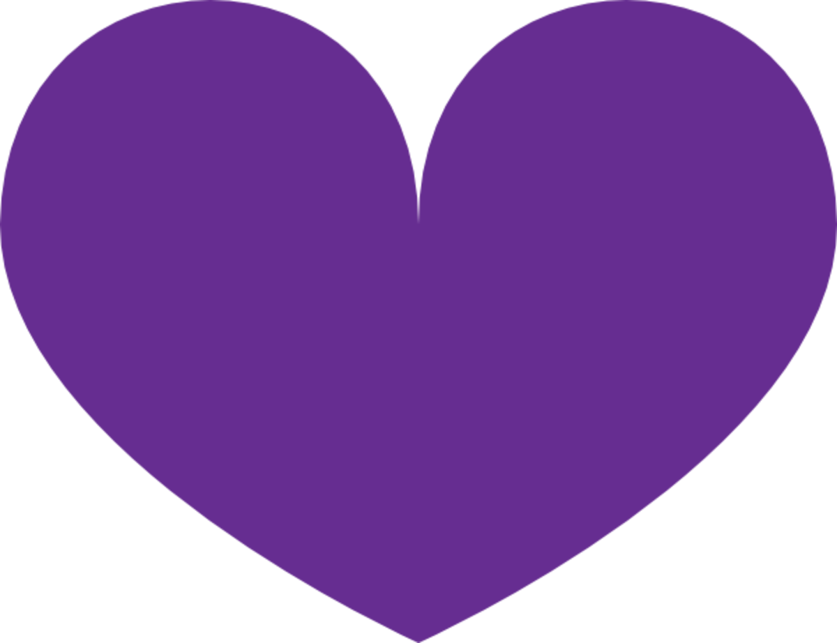 Basic Purple Heart Clipart