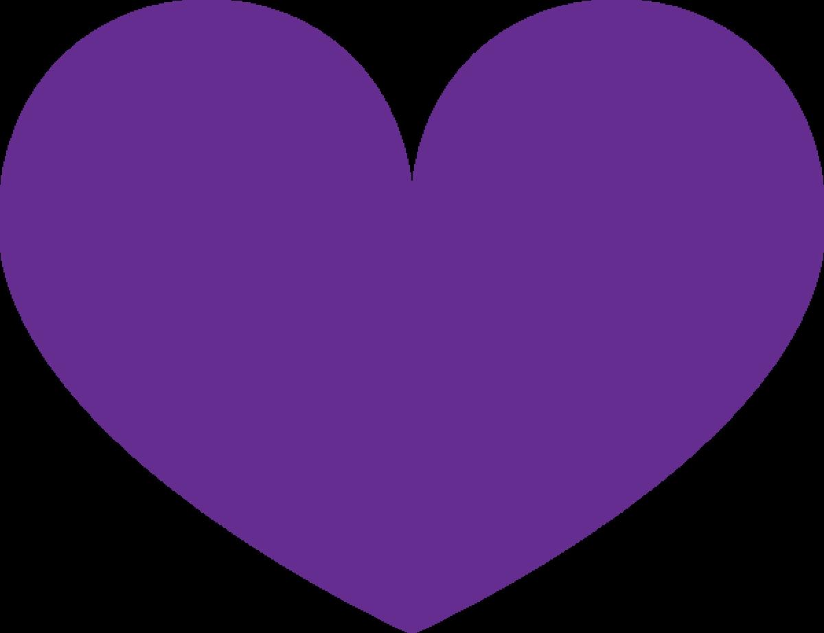 Basic Purple Heart Clipart