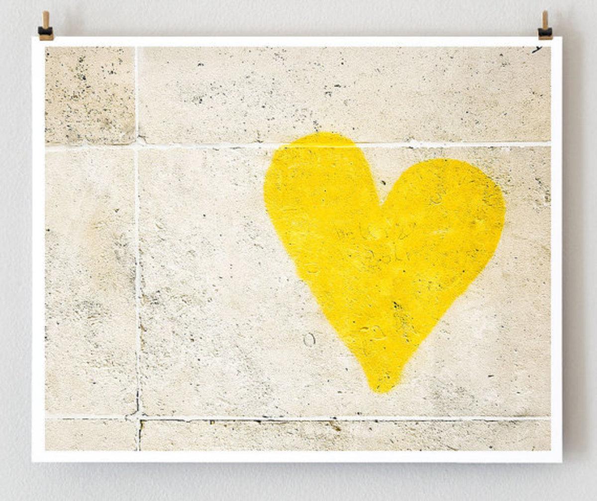 Happy Yellow Heart pic