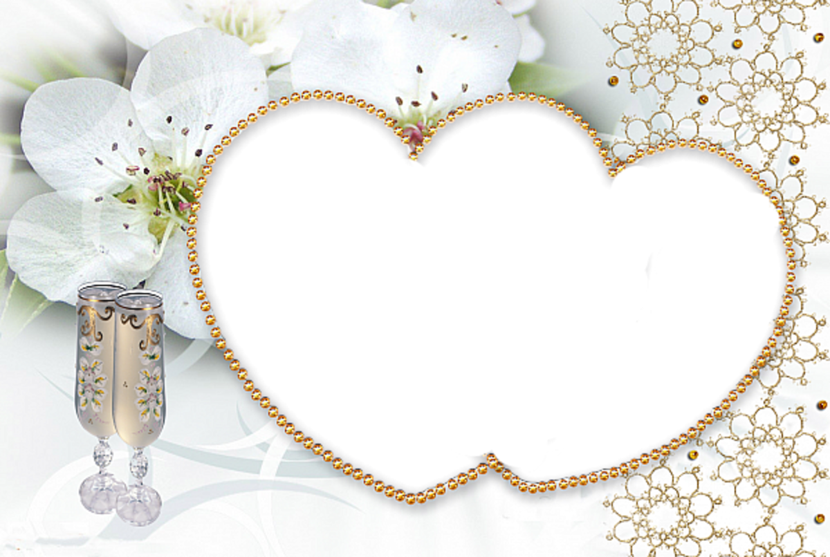couples Heart photo frame