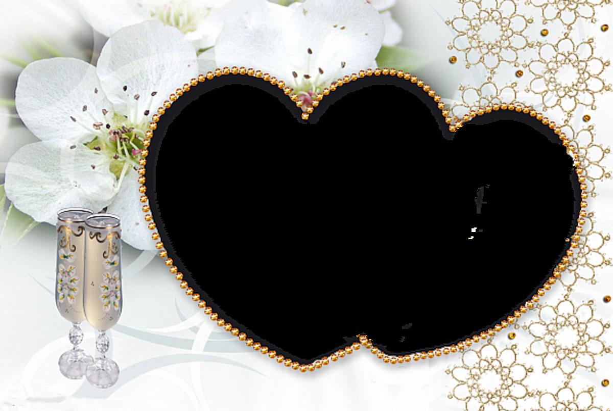 couples Heart photo frame