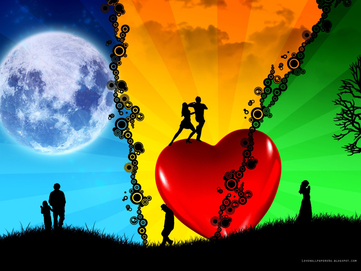 Different moods of love picture