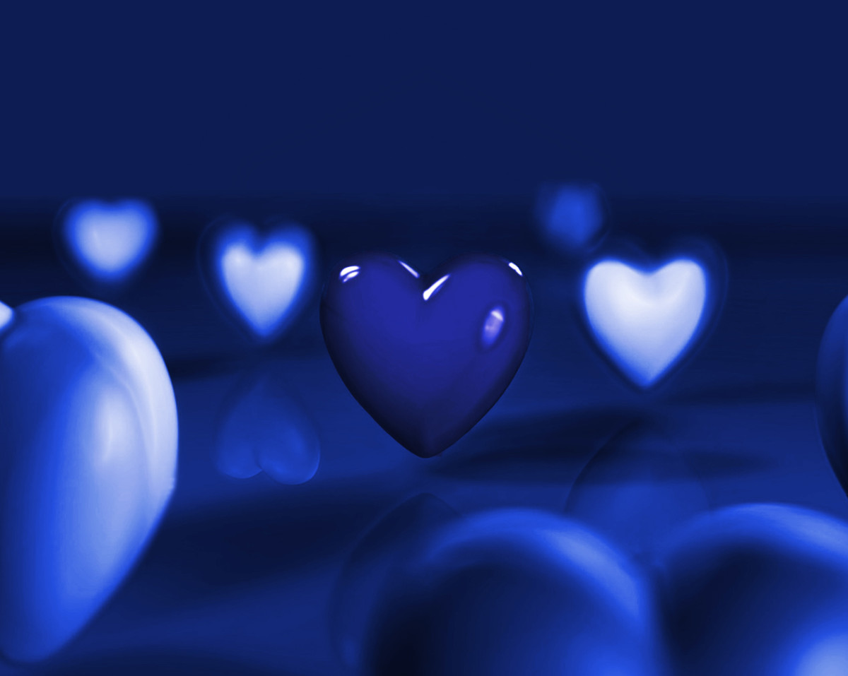 Sad Blue Hearts picture
