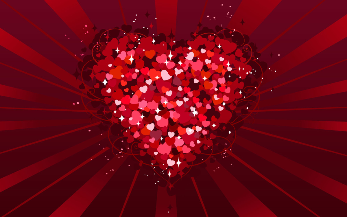 Glittery red heart for your sweetheart