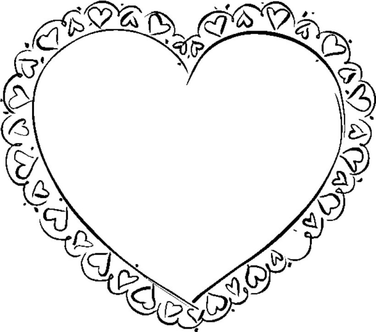 Heart coloring frame picture