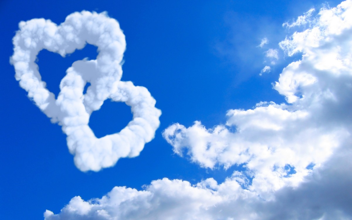 Hearts of clouds image