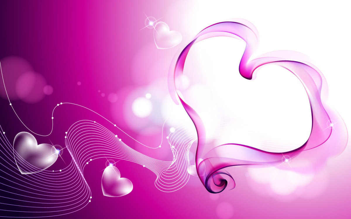 Smoky pink heart picture