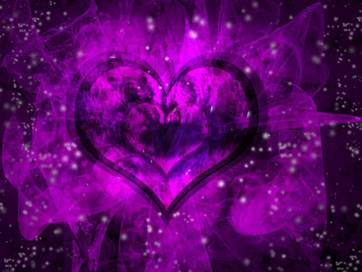 Gorgeous Purple Heart photograph