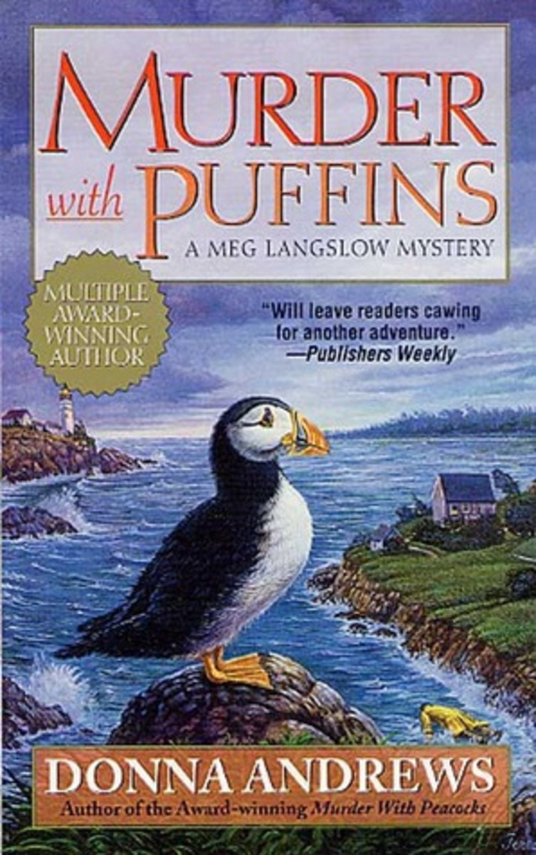 Murder with Puffins by Donna Andrews Book 2 in the Meg Langslow Series