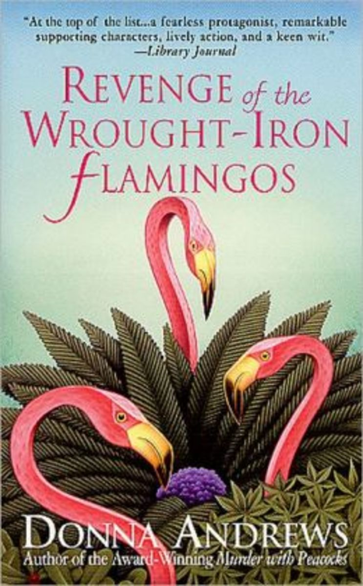 Revenge of the Wrought Iron Flamingos by Donna Andrews Book 3 in the Meg Langslow Series