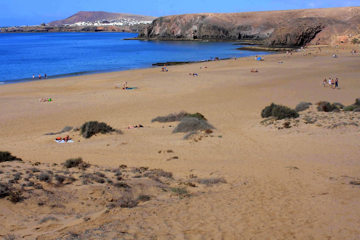 And in this photo of Playa Mujeres, the resort of Playa Blanca can be seen in the distance