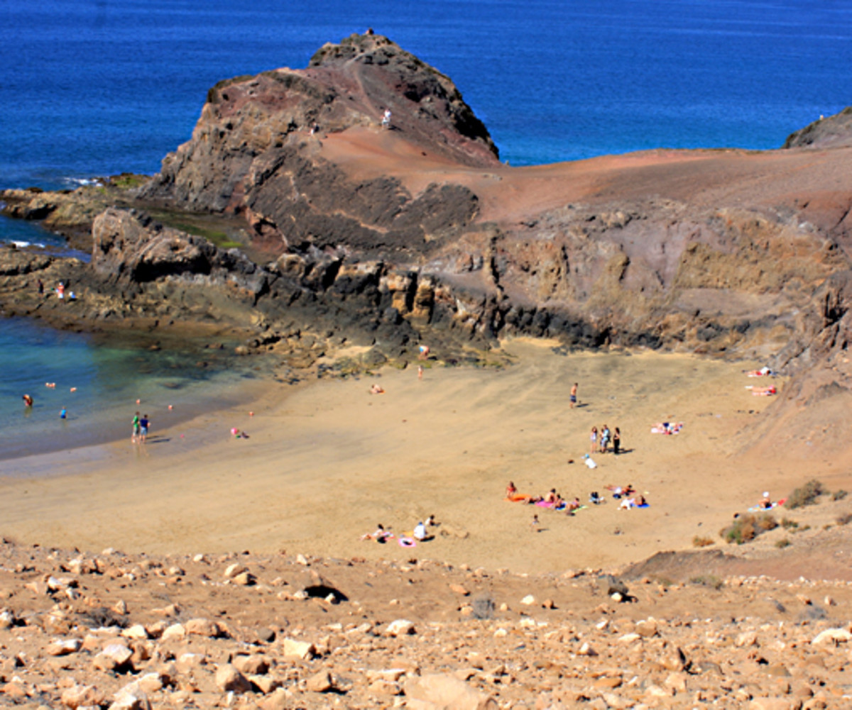 Playa de Papagayo - one of the great Spanish beaches on the Island of Lanzarote