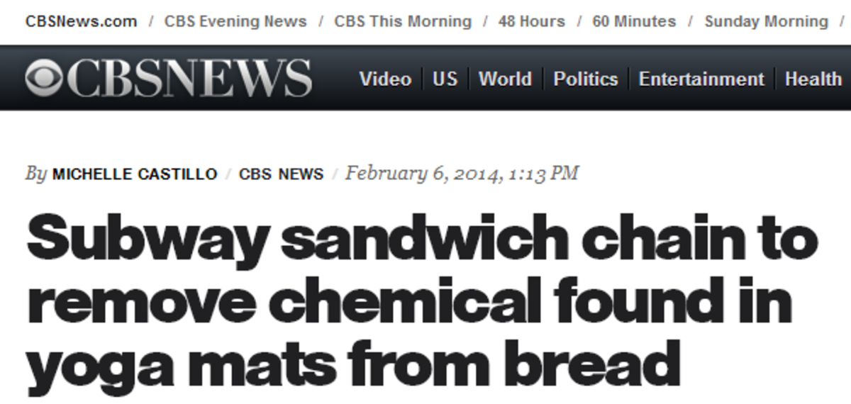 Sensational headline from CBS news about a nonexistent threat