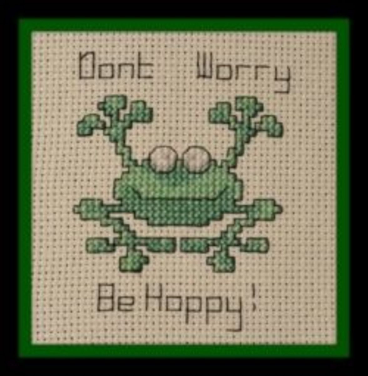 Happy Frog Cross Stitch
