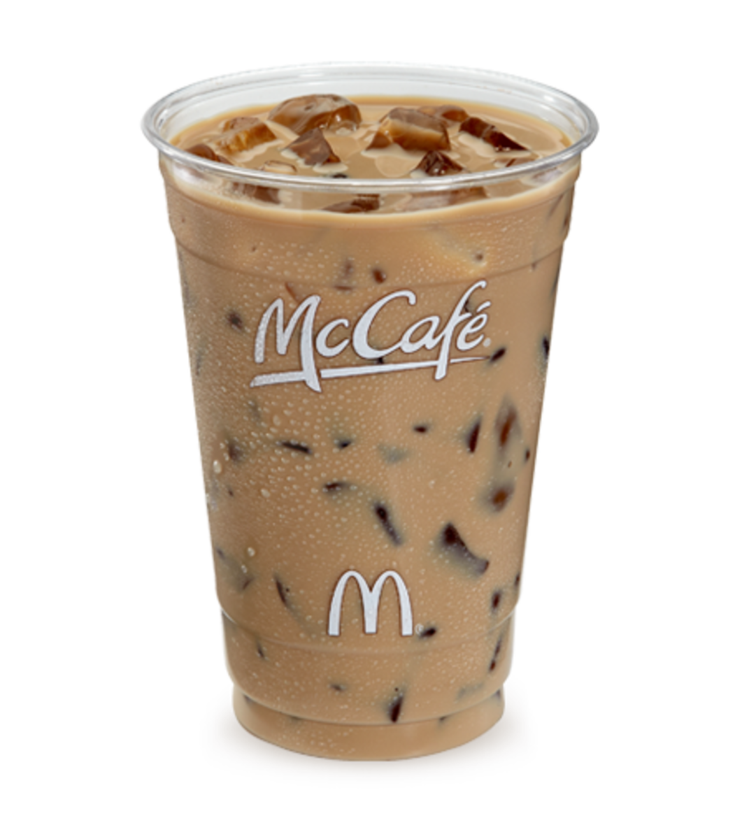 The large iced coffee now