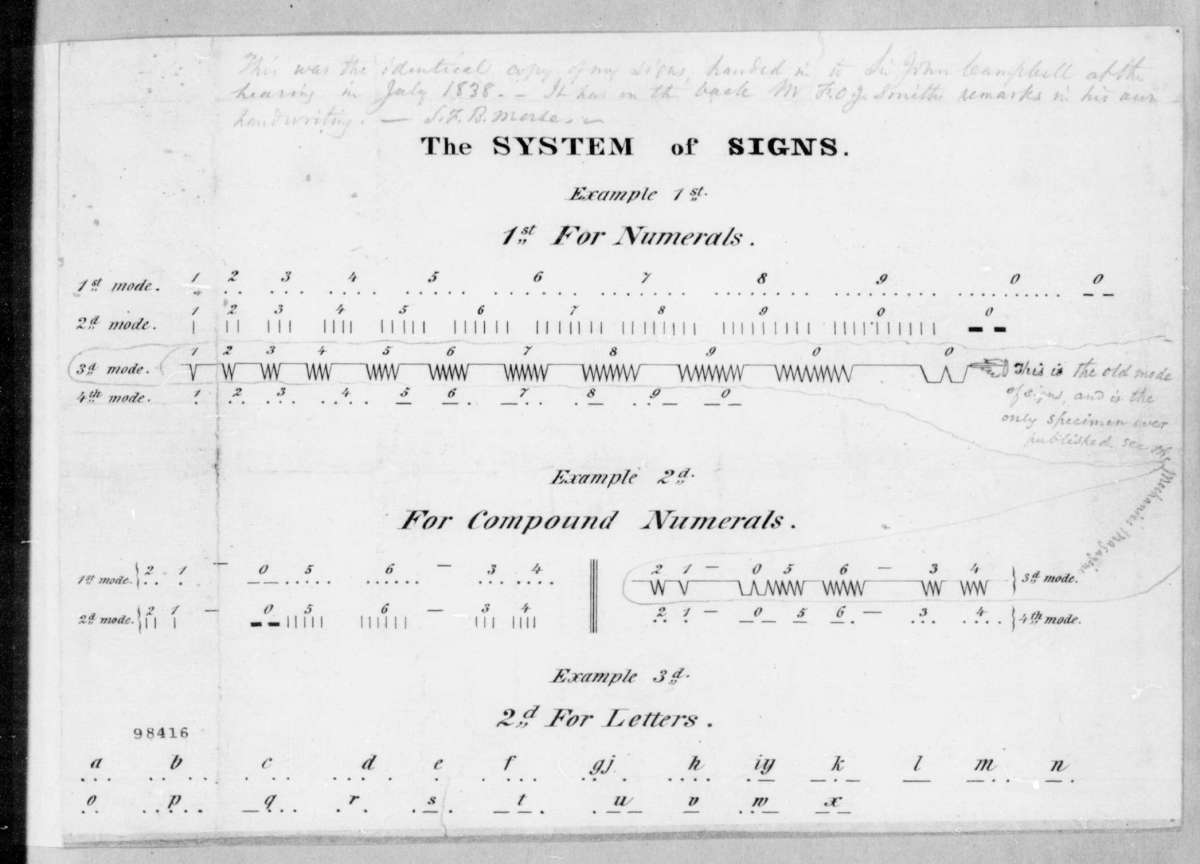Early Morse Code (about 1837)