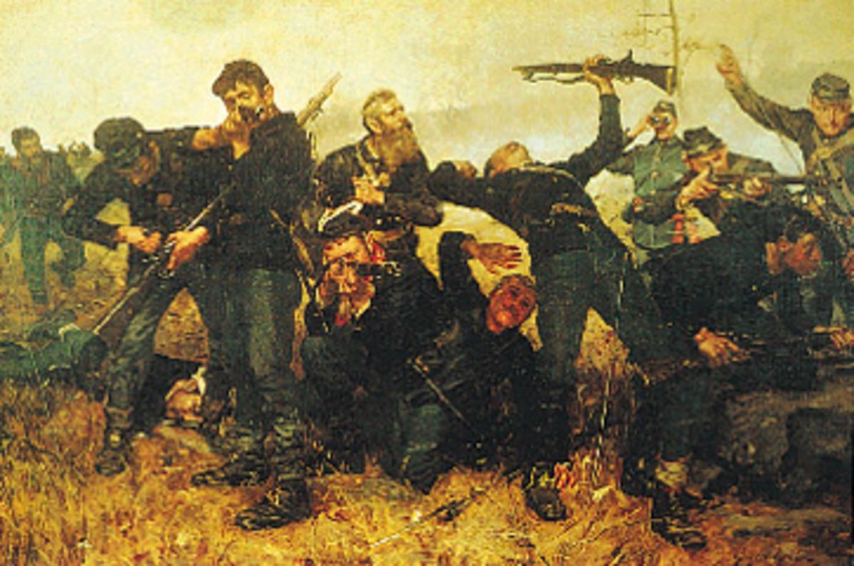 Painting - The Skirmish Line