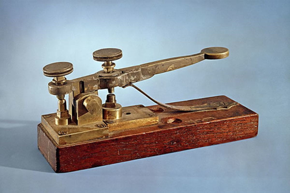 Early Morse Telegraph Machine